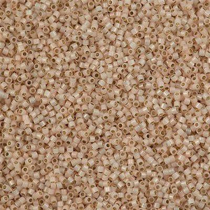 DB1452 Miyuki Delica Seed Bead 11/0 Bisque Silver Lined Opal Glazed