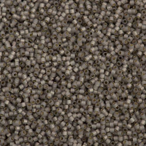DB1456 Miyuki Delica Seed Bead 11/0 Silver Lined Opal Glazed Smokey Light Taupe
