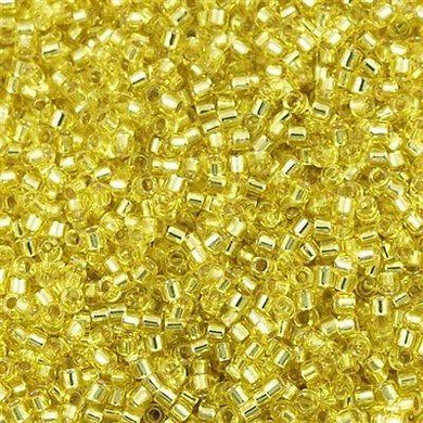 DB0145 Miyuki Delica Seed Bead 11/0 Silver Lined Yellow