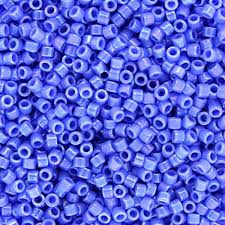 DB0167 Miyuki Delica Seed Beads, 11/0 Size, opaque light sapphire
