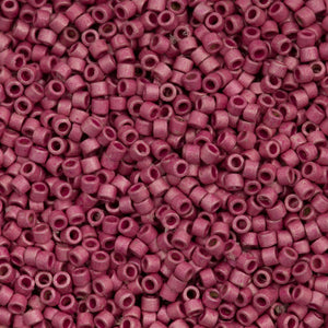 DB1840F  Delica Seed Bead 11/0 Duracoat Galvanized Matte Hot Pink