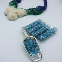 DB0044 Miyuki Delica Seed Beads, 11/0 Size, Silver Lined Light Blue