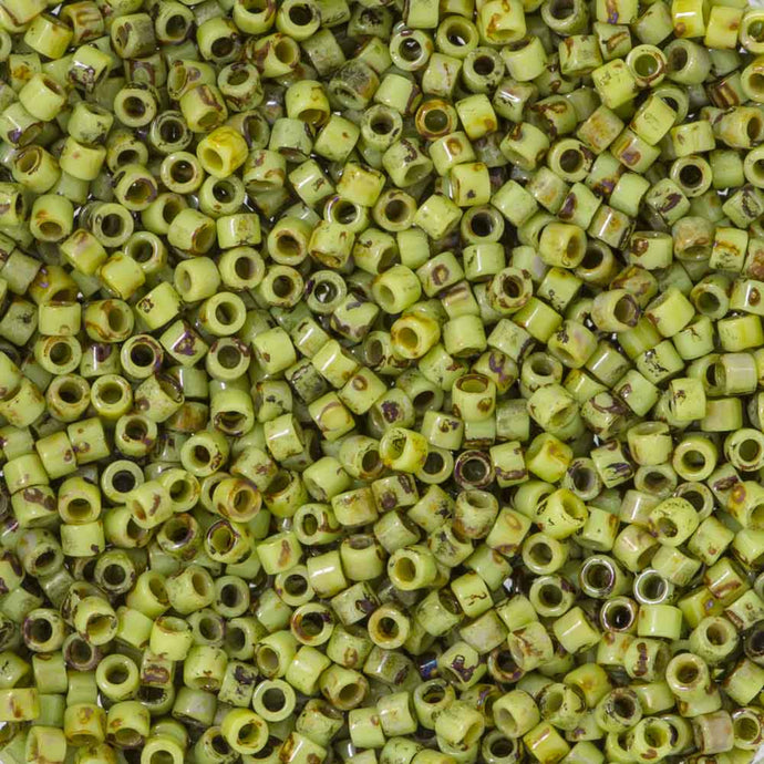 DB2265 Miyuki Delica Seed Beads 11/0 Key Lime Picasso
