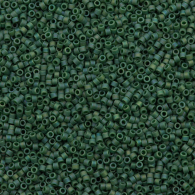 DB2311 Miyuki Delica Seed Bead 11/0 Matte Opaque Glazed Turtle Green AB