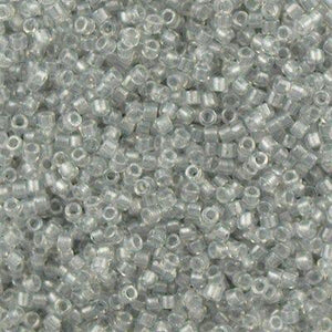 DB0271 Miyuki Delica Seed Bead 11/0 Inside Dyed Color Crystal Silver