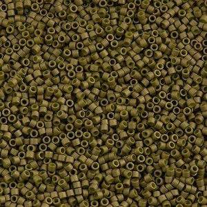 DB0371 Miyuki Delica seed beads 11/0 Matte Opaque Olive Luster