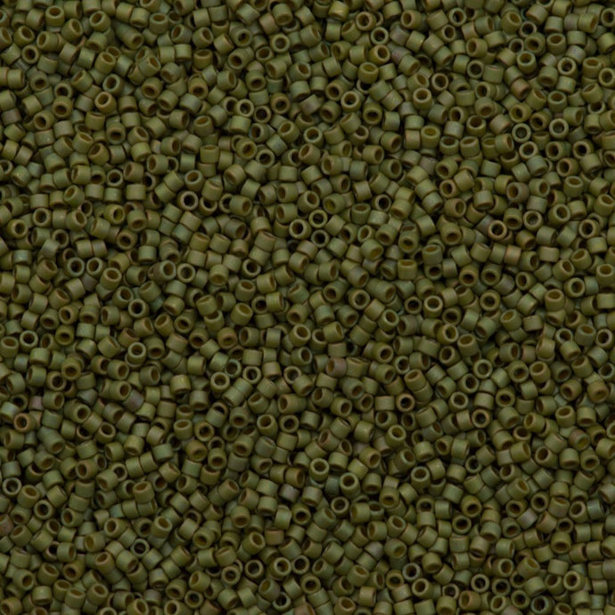 DB0372 Miyuki Delica seed bead 11/0 Matte Opaque Light Yellow Green Gold Luster AB