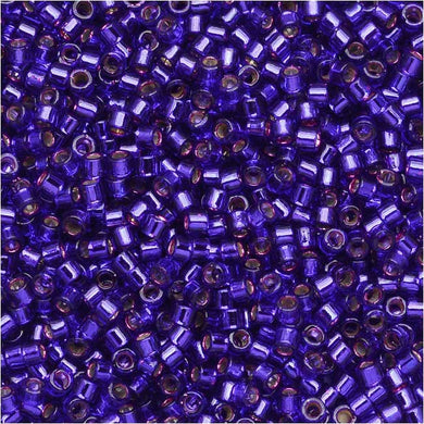 DB0610 Miyuki Delica Seed Beads, 11/0 Size, Silver Lined Violet