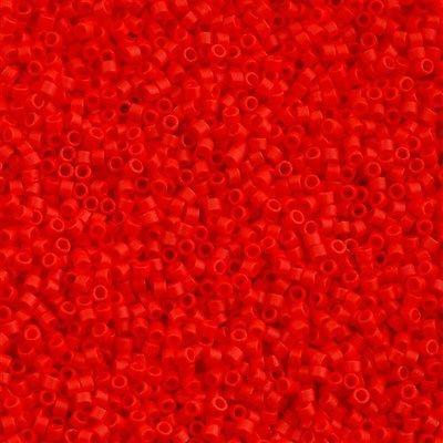 DB0757 Miyuki Delica Seed Bead 11/0 Matte Opaque Red Coral