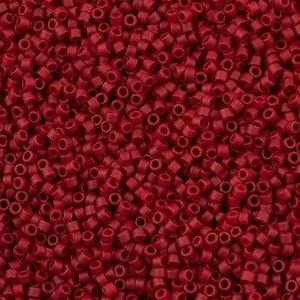DB0796 Miyuki Delica Seed Bead 11/0 Opaque Matte Dyed Dark Red