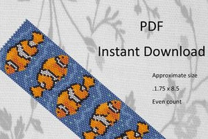 Clownfish Peyote Pattern by Bayou Gypsy Designs (Etsy)