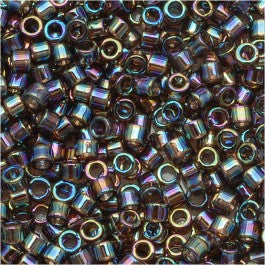 DB0180 Miyuki Delica Seed Beads, 11/0 Size, Transparent Bronze AB
