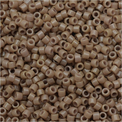 DB2105 Miyuki Delica Seed Beads, 11/0 Size, Duracoat Opaque Beige