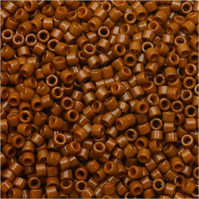DB2109 Miyuki Delica Seed Beads, 11/0 Size, Duracoat Opaque Sienna