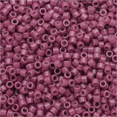 DB2118 Miyuki Delica Seed Beads, 11/0 Size, Duracoat Opaque Pansy Purple
