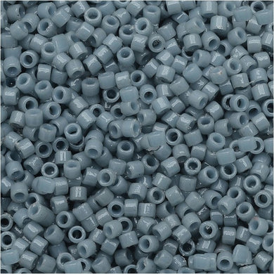 DB2129 Miyuki Delica Seed Beads, 11/0 Size, Duracoat Opaque Moody Blue