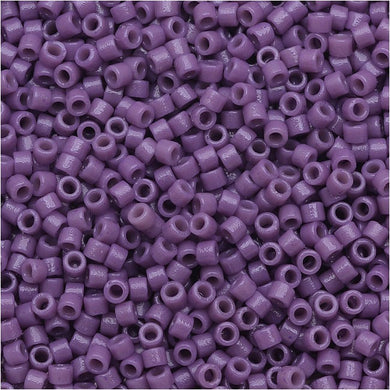 DB2139 Miyuki Delica Seed Beads, 11/0 Size, Duracoat Opaque Dark Orchid Purple