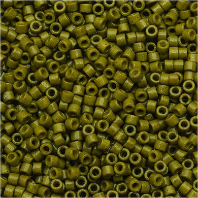 DB2141 Miyuki Delica Seed Beads 11/0 Size Duracoat Opaque Spanish Olive Green