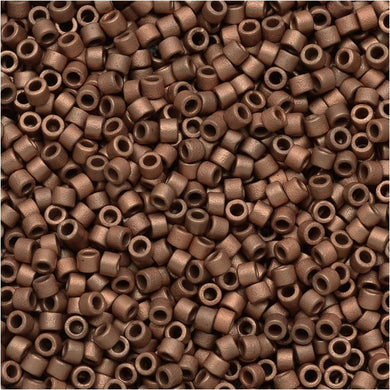DB0340 Miyuki Delica Seed Beads, 11/0 Size, Matte Copper Plated