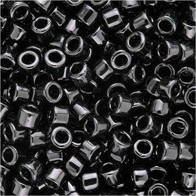 DB0010 Miyuki Delica Seed Beads, 11/0 Size, Black Opaque