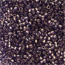 DB0117 Miyuki Delica Seed Beads, 11/0 Size, Lavender Blue Gold Luster