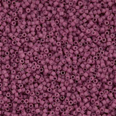 DB0800 Miyuki Delica Seed Bead 11/0 Matte Opaque Dyed Deep Rose