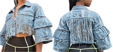 """Ragged Denim"" Distressed Jean Jacket - iuwefit"