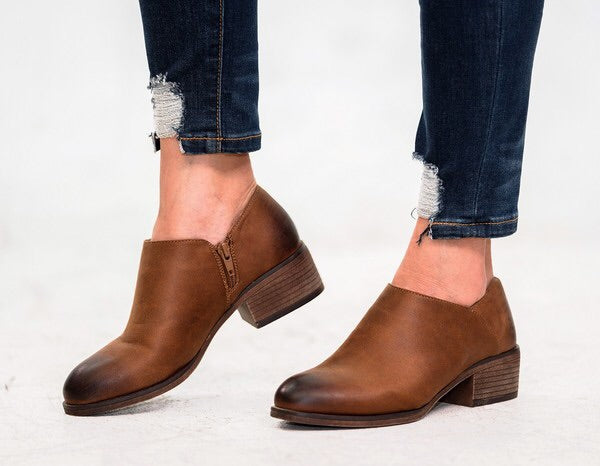 Tan Short Ankle Boot