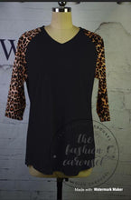 Load image into Gallery viewer, Leopard Sleeve Raglan