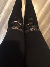 Load image into Gallery viewer, Lace knee leggings