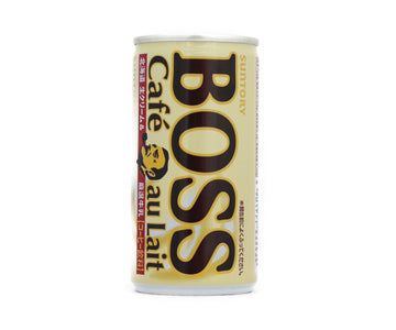 サントリー BOSS カフェオレ 北海道生クリーム&厳選牛乳 185g<br>SUNTORY BOSS cafe au lait Hokkaido fresh cream and carefully selected milk 185g