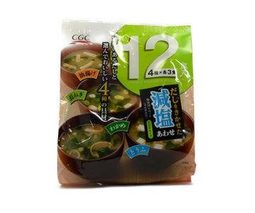 CGC 減塩合わせみそ汁 12食入<br>CGC LOW-SALT MIXED MISO SOUP 12PC
