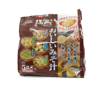 CGC おいしいみそ汁 5食組<br>CGC DELICIOUS MISO SOUP 5PC