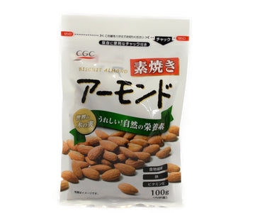 CGC 素焼きアーモンド 100g<br>CGC BISCUIT ALMONDS 100G