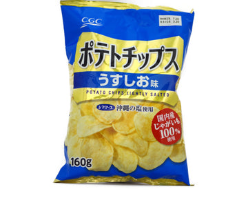 CALBEE POTATOCHIPS LIGHT SALT 160g