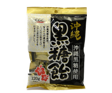 CGCジャパン 沖縄黒糖使用 沖縄黒糖飴 120g<br>CGC JAPAN BROWN SUGAR CANDY USING OKINAWA BROWN SUGAR 120g