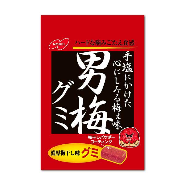 ノーベル製菓 男梅グミ 38g<br>Nobel confectionery man plum gummy 38g