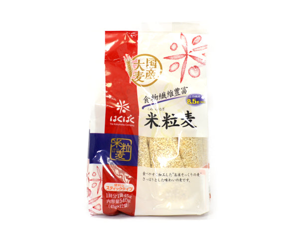 はくばく 米粒麦 45g×12P 540g    <br>HAKUBAKU RICE GRAIN WHEAT 540G