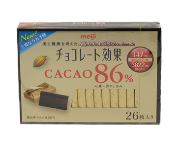 MEIJI CHOCOLATE EFFECT CACAO 86% 26 SHEETS
