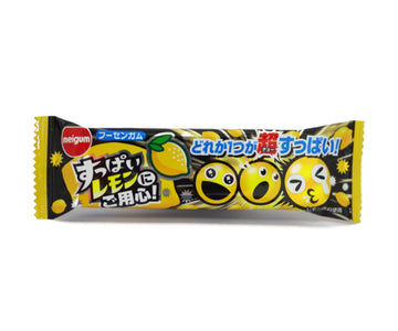 明治 チューイングガム すっぱいレモン 3pieces<br>MEIJI CHEWING GUM SUPPLE LEMON FLAVOR 3pieces