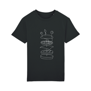 T-shirt Burger Monochrome Enfant