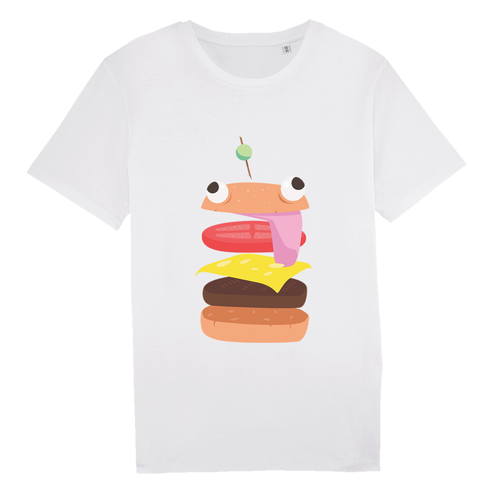 T-shirt Burger Homme
