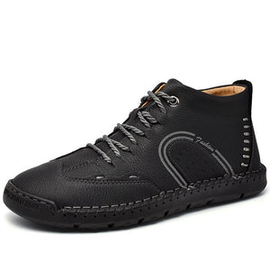 Men 2020 Men's Boots High Quality Leather Ankle Boots