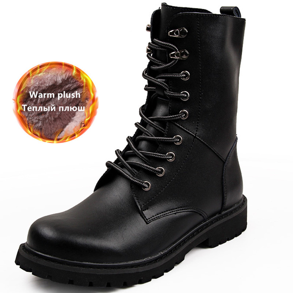 Mens Winter Large size Motorcycle Boots