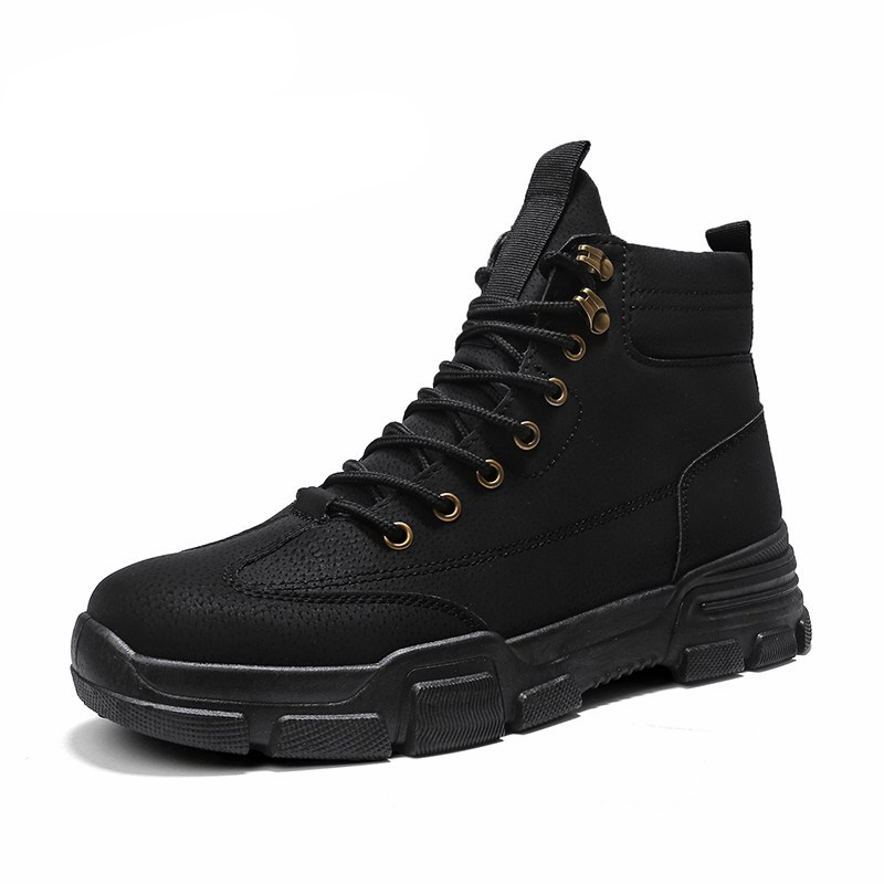2020 New Men Waterproof Lace Up Military Boots
