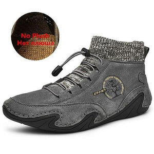 Men Breathable Warm Fur Non-slip Comfortable Boots