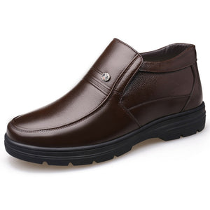 Genuine Leather Shoes Men Winter Boots