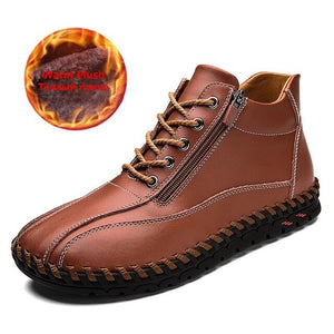 Men's High Quality Split Leather Winter Boots