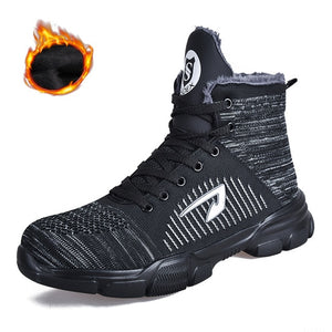 Men Indestructible Steel Toe Safety Work Boots