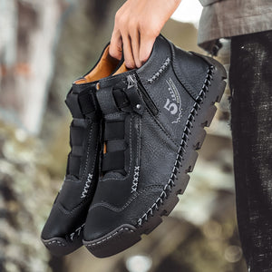 Men Fashion Winter Ankle Leather Boots